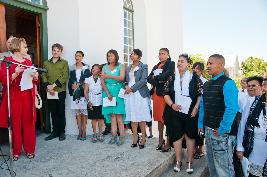 Museum Staff listening to address by Premier
